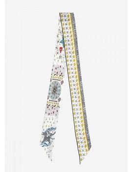 Fashion Skinny Double Layer Silk Scarf by Lily Silk