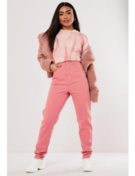Tall Terracotta Riot Highwaisted Mom Jeans by Missguided