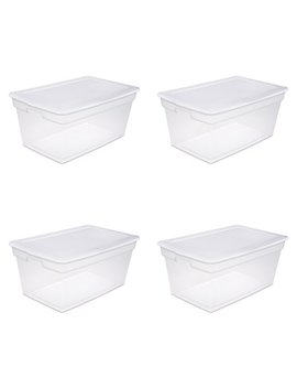 Sterilite, 90 Qt./85 L Storage Box, White, Case Of 4 by Sterilite