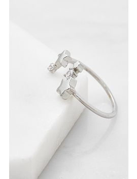 Star & Moon Open Ring by Urban Outfitters