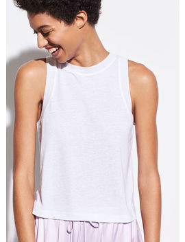 Sweater Trim Tank by Vince
