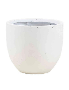 Smooth Stone Finish Medium Round Bowl Planter White by Bed Bath And Beyond