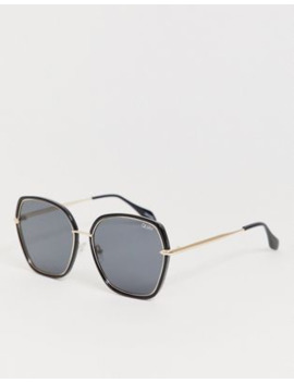 Quay Australia Verve Square Sunglasses In Black by Quay Eyeware