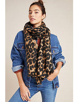 Aja Leopard Scarf by Anthropologie