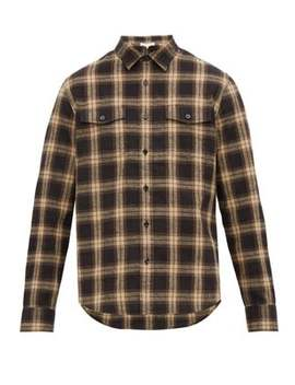 Chatham Check Double Pocket Linen Blend Shirt by Frame