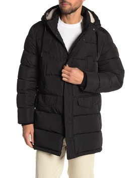 Water Resistant Faux Fur Lined Puffer Jacket by Calvin Klein