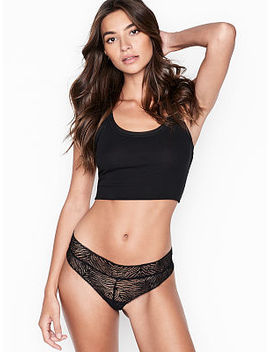 Zebra Lace Cutout Cheeky Panty by Luxe Lingerie