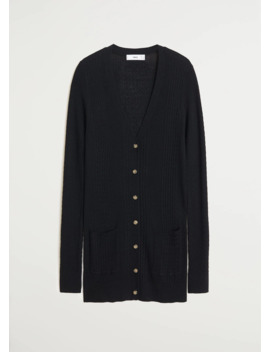 Combined Knitted Cardigan by Mango