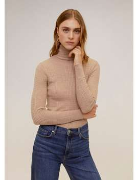 Combined High Collar Sweater by Mango