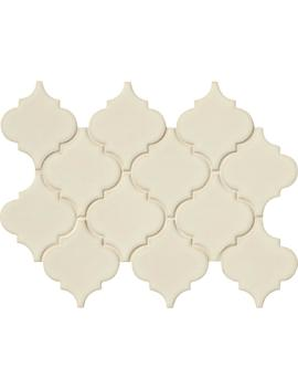 Antique White Arabesque 10 1/2 In. X 15 1/2 In. X 8 Mm Glazed Ceramic Mesh Mounted Mosaic Wall Tile (11.7 Sq. Ft. /Case) by Msi