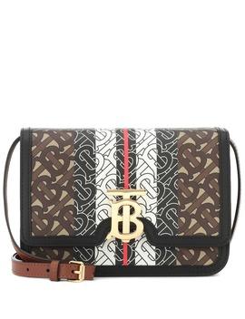 Monogram Stripe Tb Leather Shoulder Bag by Burberry