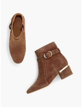 Harlow Buckle Bootie   Suede by Talbots