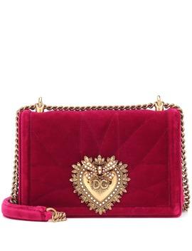 Devotion Medium Velvet Shoulder Bag by Dolce & Gabbana