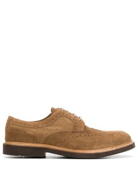 Perforated Low Heel Oxford Shoes by Eleventy