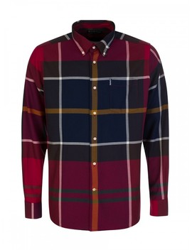 Barbour Red Dunoon Tailored Shirt by Barbour
