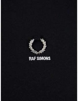 Fred Perry X Raf Simons Black Wreath T Shirt by Fred Perry X Raf Simons