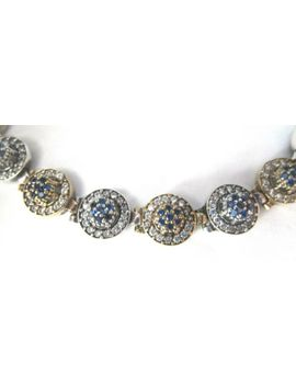 Gorgeous Sterling Silver 925 Blue Topaz & Ice Crystsal Bracelet by Ebay Seller