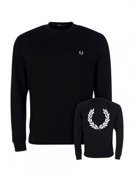 Fred Perry Black Terry Sweatshirt by Fred Perry