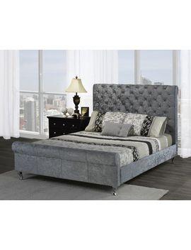 Brassex Inc Victoria Queen Platform Bed, Silver by Walmart