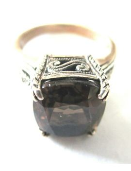 Cna Sterling Silver 925 Smokey Quartz Filigree Ring Size 6 by Ebay Seller