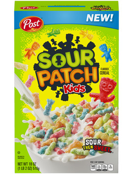 Post Sour Patch Kids Breakfast Cereal, Sour Then Sweet, 18oz by Mondelez