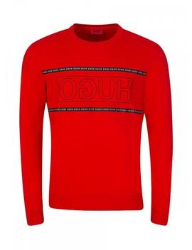 Hugo Red Dicago Logo Sweatshirt by Hugo