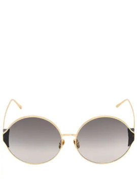 Carousel Round Sunglasses by Linda Farrow