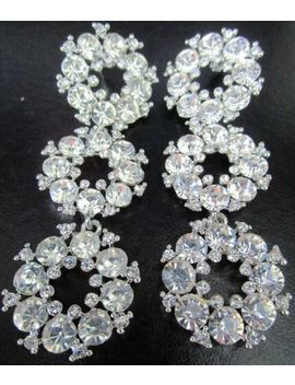 Gorgeous Crystal Encrusted Rings Dangling Earrings by Ebay Seller