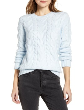 Cable Knit Sweater by Rachel Parcell