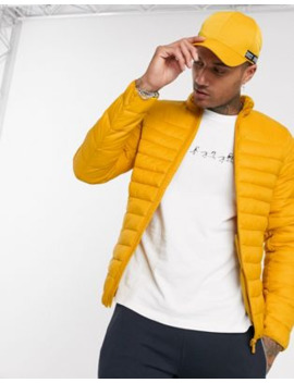 Pull&Bear Join Life Lightweight Puffer Jacket In Mustard by Pull&Bear