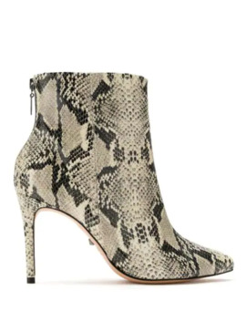 Snake Print Effect Booties by Schutz