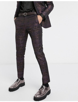 Topman Skinny Suit Trousers With Floral Print by Topman