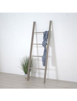 Wooden Decorative Ladder Shelf   Blanket Ladder   Distressed Ladder Display   Home Decor Accent   Fast Freee Shipping by Etsy