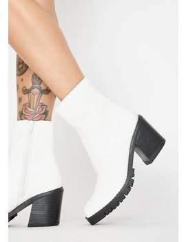 Arctic Just Went Viral Ankle Boots by Dolls Kill