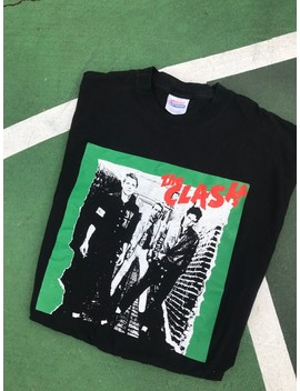 90s The Clash British Punk Band Tee Shirt Vintage by Vintage  ×  Rock Band  ×  Band Tees  ×