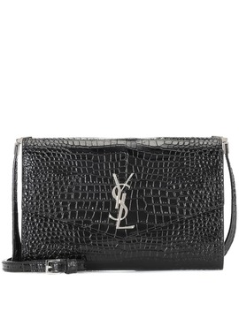Uptown Leather Crossbody Bag by Saint Laurent