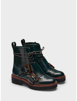 Olivine   Leather Buckle Strap Boots by Scotch&Soda