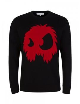 Mc Q By Alexander Mc Queen Black Chester Monster Sweatshirt by Mc Q By Alexander Mc Queen