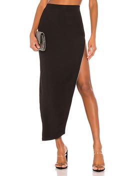 Tawnie Zip Maxi Skirt In Black by Superdown