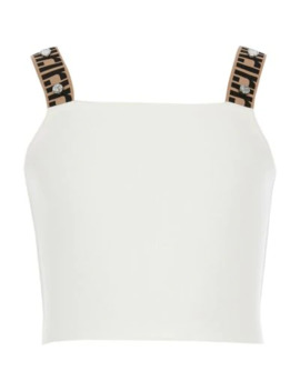 Girls Cream Ri Strap Cropped Top by River Island