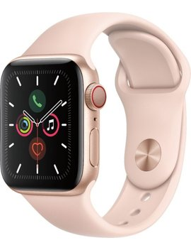 Apple Watch Series 5 (Gps + Cellular) 40mm Gold Aluminum Case With Pink Sand Sport Band   Gold Aluminum (Verizon) by Apple