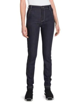High Waist Velvet Logo Jeans by Fendi