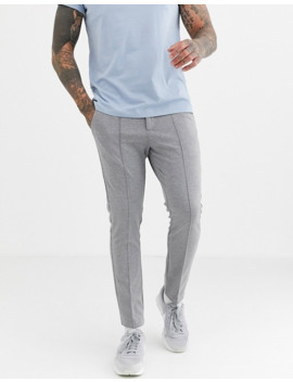 River Island Smart Sweatpants In Gray Check by River Island