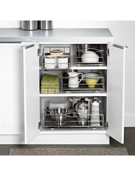 Pull Out Cabinet Organizer                                 Heavy Gauge Steel by Simplehuman