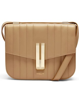 Vancouver Stitched Calfskin Leather Crossbody Bag by Demellier