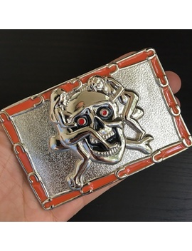 Skull Belt Buckle Cowboy Men Women Western Silvernwt/New by Poshmark