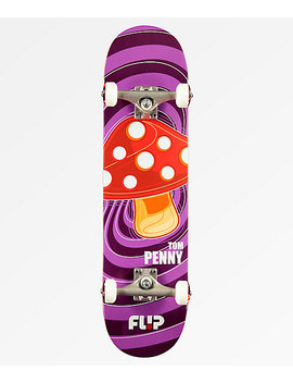 "Flip X Tom Penny Pop Shroom Purple 8.0"" Skateboard Complete by Flip Skateboards"