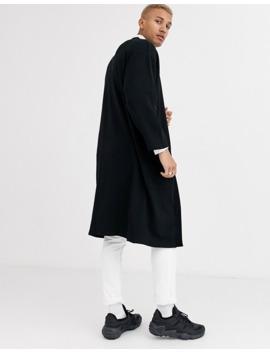 Asos Design Longline Jersey Kimono In Black by Asos Design