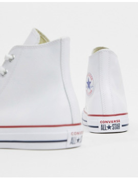 Converse Chuck Taylor All Star Hi White Leather Sneakers by Converse