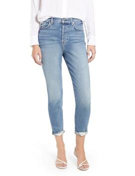 Josefina High Waist Roll Hem Boyfriend Jeans by 7 For All Mankind®